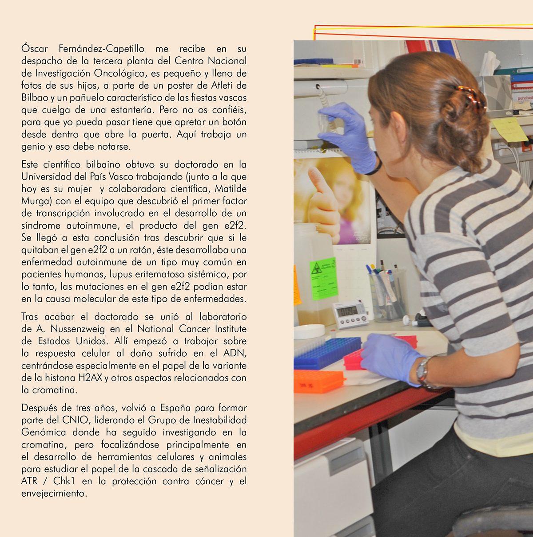 Óscar Fernández-Capetillo ¿HAY RELACIÓN ENTRE CÁNCER Y EL ENVEJECIMIENTO?, Óscar Fernández-Capetillo ¿HAY RELACIÓN ENTRE CÁNCER Y EL ENVEJECIMIENTO?, Revista NUVE