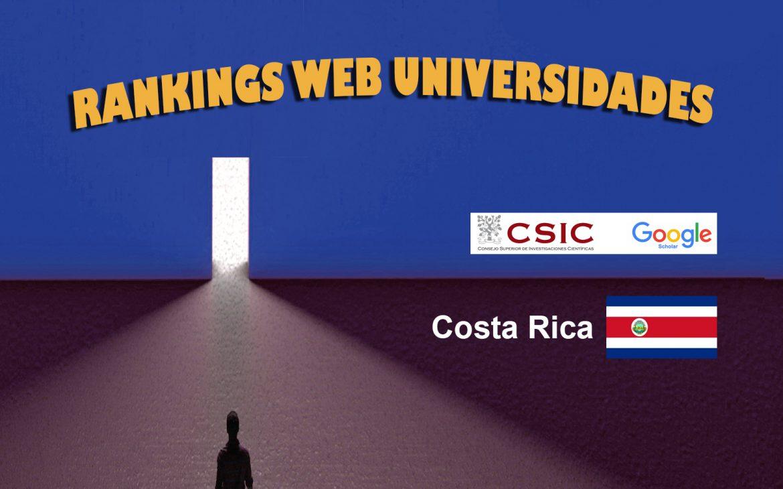 Ranking Web Universidades de Costa Rica, Ranking Web Universidades de Costa Rica, Revista NUVE