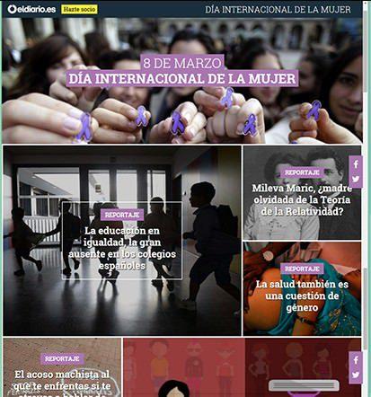 Dia Internacional de la mujer en el Diario.es, Día Internacional de la mujer en el Diario.es, Revista NUVE