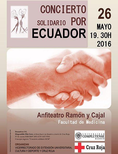 concierto solidario por ecuador : universidad complutense y cruz roja
